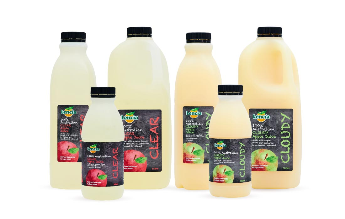 Lencia Apple Juice Range