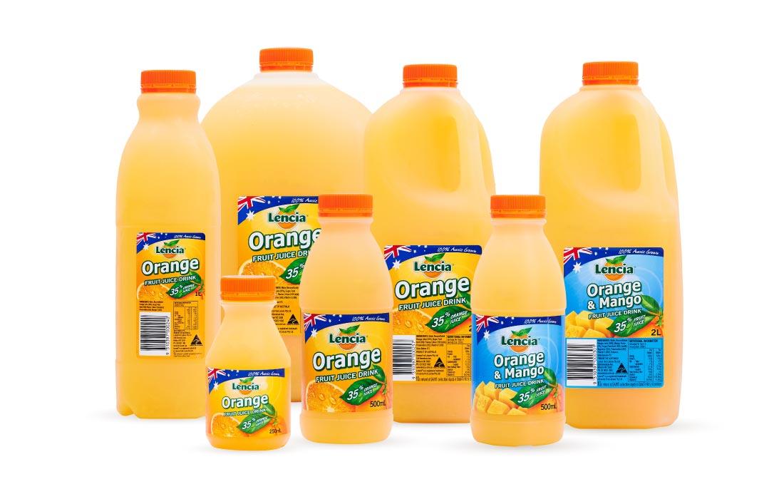 Lencia Fruit Juice Drink Range