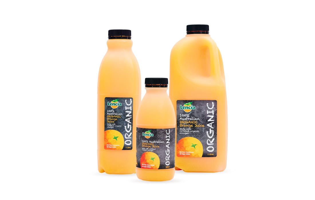 Lencia Organic Orange Fruit Juice Range
