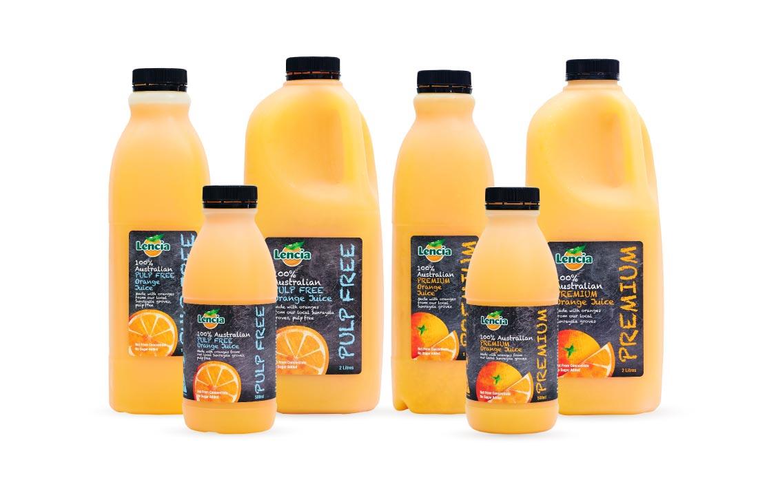 Lencia Premium Orange Fruit Juice Range